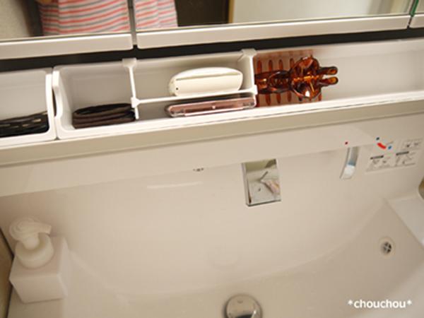 洗面台 3面鏡下 ポケット1