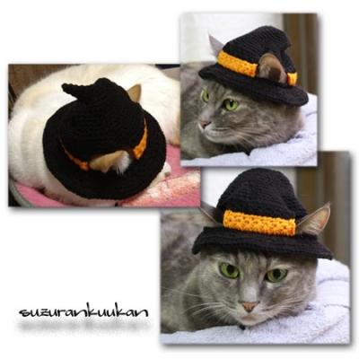 ハロウィン帽子 黒を被ったところ