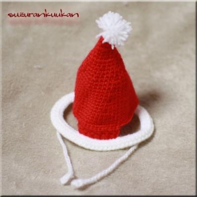 モヘア調サンタ帽子003