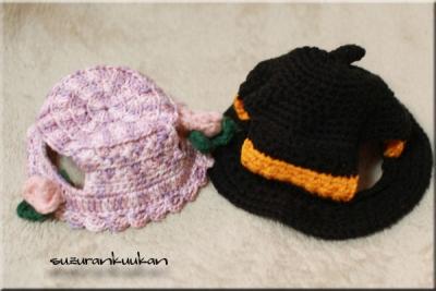 ハロウィン帽子と浅夏の木陰帽きららちゃん仕様