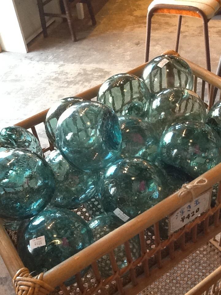 浮き球 海 ガラス 日本 レトロ