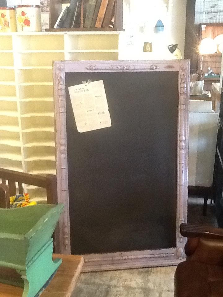 黒板 アンティーク ペイント パープル