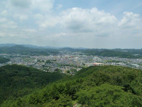 展望台から眺める小川町