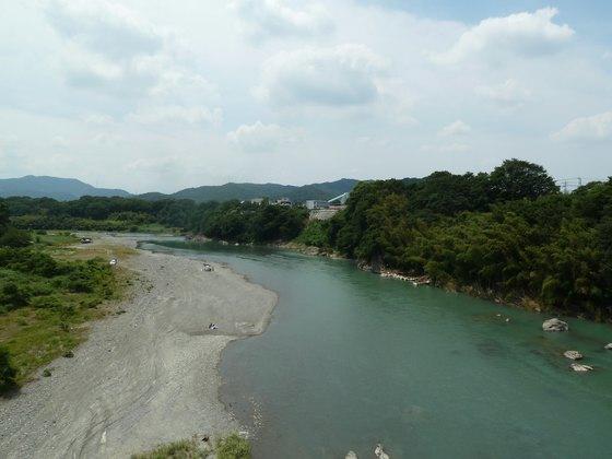 玉淀大橋から眺める荒川