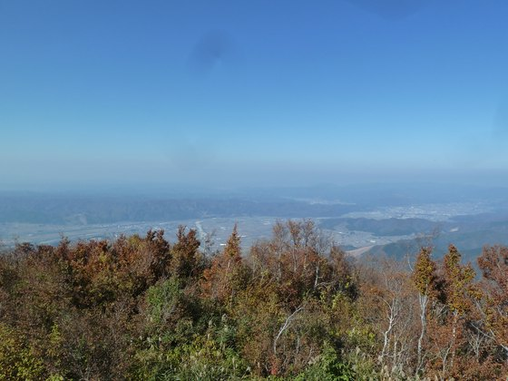 展望台から見た魚沼盆地