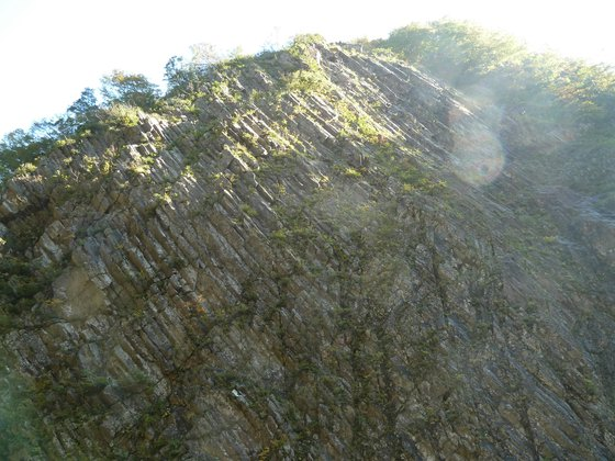清津峡の岩壁