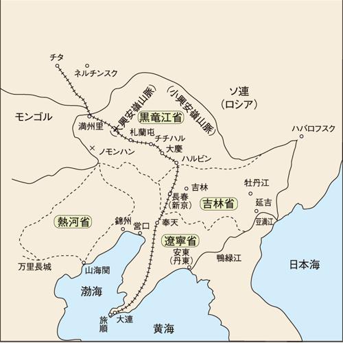満州東3省の地図 1931年頃