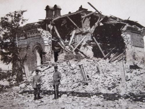 崩壊した尼港の町