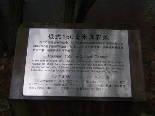 ロシア軍の使用したカノン砲の詳細