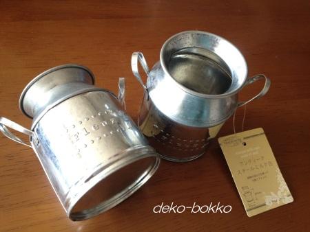 セリア アンティーク スチール ミルク缶
