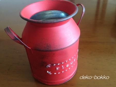 セリア ミルク缶 リメ缶