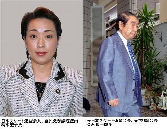 以前の会長、久永勝一郎氏が不正経理問題で失脚し、フィギュアスケートの勢力は急速に力を失いました。そして会長に就任したのはスピードスケート出身の橋本聖子氏だったのです。