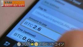 30万円は、ネットの世界の2.6ビットコインに変わりました。