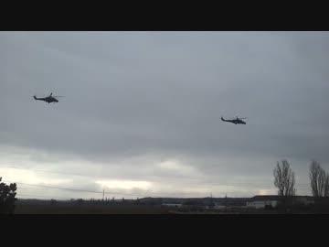 ロシア軍のウクライナ侵攻ウクライナ・クリミア半島に侵攻するロシア軍の攻撃ヘリコプターの大編隊