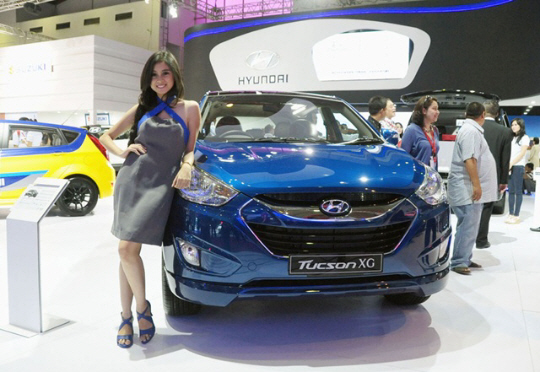 2013年9月、インドネシア国際モーターショーの現代自動車のブース