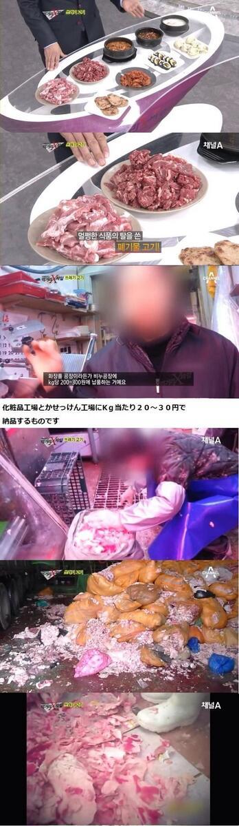 日本人観光客が韓国で食べる'ゴミ肉'(1/2)