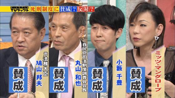 死刑賛成の面々 2014年4月7日放送の「TVタックル」(テレビ朝日系)