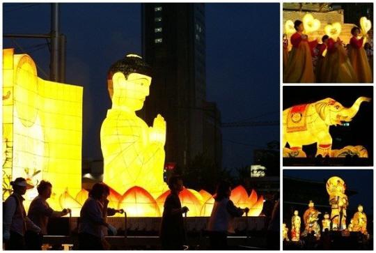 1996年以降、燃灯会では日本の「ねぶた祭り」の山車に似た大型灯篭が用いられるようになった。