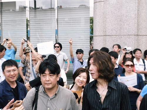 反日マスコミ、反日極左、排害デモin渋谷安田浩一 林 啓一 (52) = 凛七星「友だち守る団」代表