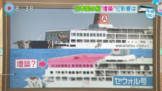 沈没した「セウォル号」は、1994年に日本で建造され、日本国内で2012年まで18年間運航した後、韓国企業が買い取り、定員を804人から921人に増やすように改造