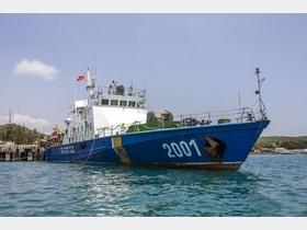 ベトナム海上警察の巡視船(2014年3月13日撮影、資料写真)。
