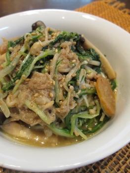 簡単♪どっさり水菜とツナきのこ炒め