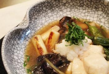 めんつゆとごま油で♫つるりんささ身と野菜の焼き浸し