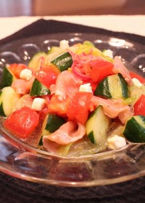 野菜とハムの簡単マリネ
