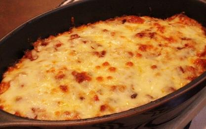 ミートローフ解体チーズのせ焼き