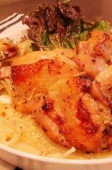 鶏もも肉と玉ねぎのマスタードオーブン焼き