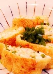 あらほぐし鮭と豆腐の油揚げ巻き焼き