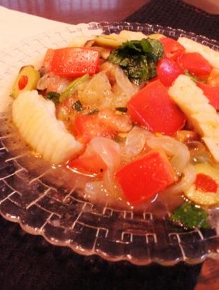 冷凍イカと野菜の簡単マリネ