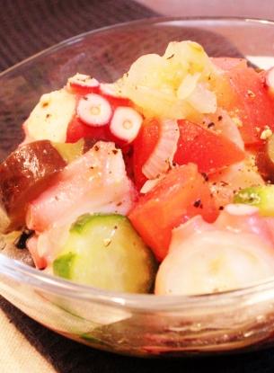 タコと野菜の簡単リンゴ酢マリネ (305x415)