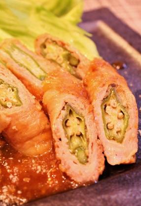 豚薄切り肉オクラ巻き♪簡単 (286x417)