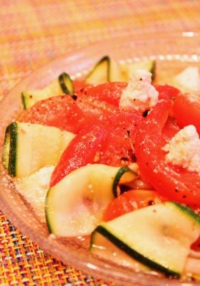 ズッキーニとトマトの簡単マリネ (292x417)