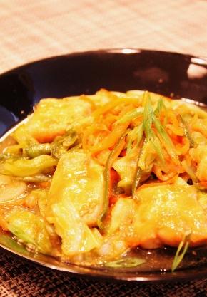 鶏むね肉と野菜のガーリックマヨ味噌炒め (290x417)