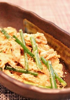 蒸し鶏と万能ねぎの胡麻ドレ (288x415)