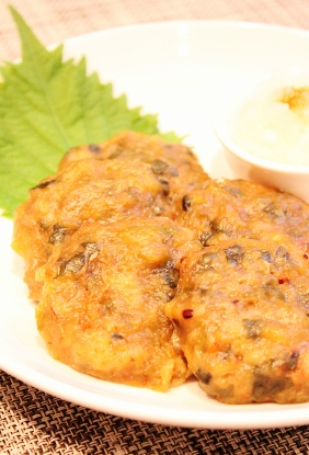 海老と香味野菜の蒸しつくね☆大根おろし添え (282x415)