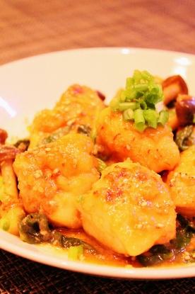 ご飯がすすむ☆鶏むね肉の胡麻チーズ焼き (276x415)