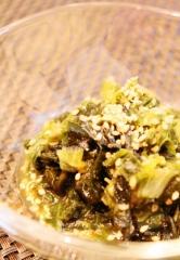 コンソメポテ煮汁でレタス外葉と乾ワカメのさっと煮 (289x417)