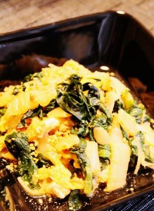 白菜小松菜ワカメ、薄あげのズボラレンジ煮 (304x417)
