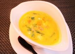 カボチャと青梗菜のミルク味噌スープ (350x255)