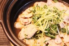 超簡単♪豚肉と水菜のはりはり煮 (350x235)