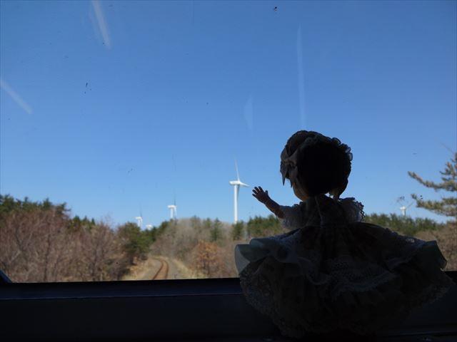 あ、風力発電だー