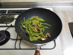 春菊といわしの味噌炒め09