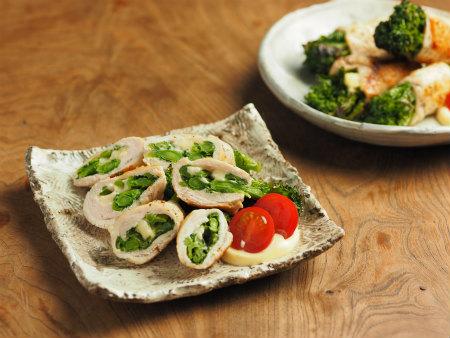 鶏むね肉の菜の花巻き15