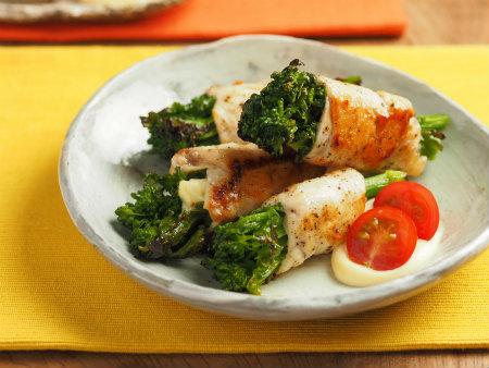 鶏むね肉の菜の花巻き06