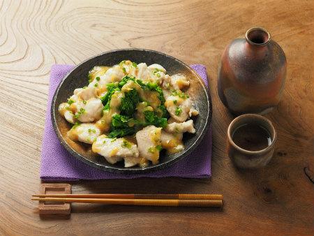 菜の花の辛子酢味噌02