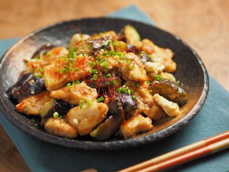 鶏むね肉茄子味噌炒め02