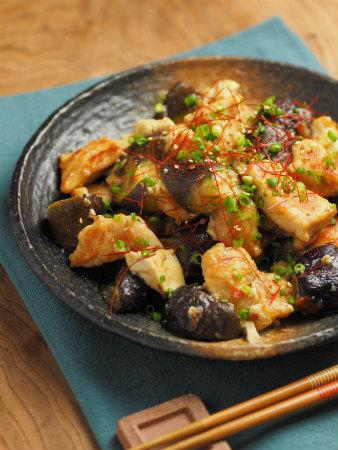 鶏むね肉茄子味噌炒め23